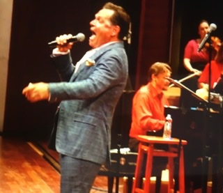 Onstage with Kurt Elling at Jazz Fest
